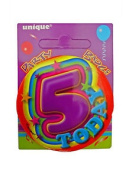 5 Today - 5th Birthday Party Badge (5.5cm) Craft/ca