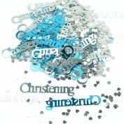 Blue Baby Boy Christening Decoration Party Table Confetti Sprinkels Supplies 14g