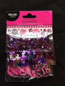 18th Birthday Confetti Table Decoration Sprinkle Black Pink Purple Age 18 Party