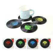 Vintage Vinyl Record Cd Coasters Groovy Disc Table Bar Drinks Cup Mats Pad Uk