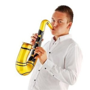 Party Inflatable Music Sax Gold - Saxaphone Fancy Dress Musical