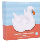 Sunnylife Inflatable Drink Holder White Swan