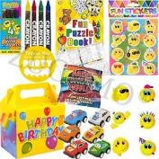 Kids Pre Filled Childrens Boys Party Bags Boxes For Birthday Gifts V3