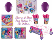 Shimmer & Shine Party Package For Kids Cartoon Birthday Party Decorations Sets
