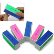 5 Pcs Nail Art Manicure 4 Way Shiner Buffer Buffing Block Sanding File