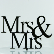 Same Sex Mrs Gay Lesbian Proposal Wedding Engagement Decoration Cake Topper Mirror Acrylic Silhouette