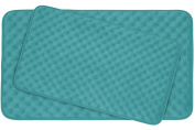 Bounce Comfort Extra Thick Memory Foam Bath Mat Set - Massage Plush 2 Piece Set with BounceComfort Technology, 50cm x 80cm . Turquoise