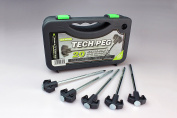 Outdoor Revolution Heavy Duty Steel Tent Awning Hard Ground Tech Pegs- Box Of 20