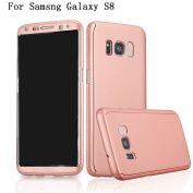 """Samsung Galaxy S8 5.8"""" Case Adamark 360 Degree Protection 2 in 1 Slim Cover Shockproof Shell Front and Back Full Body Coverage Protection Protective Case For Samsung Galaxy S8"""