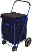 PrimeTrendz TM Folding SHOPPING CART LINER insert with Top Cover in Black Colour (Liner Only, Shopping cart not included).