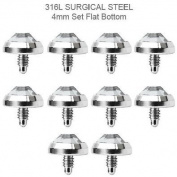 Microdermal Jewellery 10pc 4mm Jeweld Dermal Anchor Implant Surgical Steel By Eg Gifts