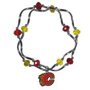 NHL Calgary Flames Women's Crystal Bead Bracelet, Stretch