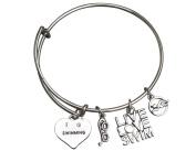 Swim Bangle Bracelet- Girls Swimming Bracelet- Swim Jewellery - Perfect Gift For Swimmers