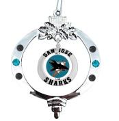 San Jose Sharks Spinner Christmas Ornament