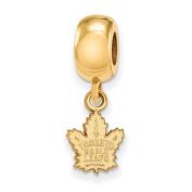 Toronto Maple Leafs Bead Charm Extra Small (1cm ) Dangle