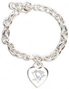 Pittsburgh Penguins NHL Heart Charm Jewellery Bracelet