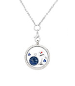 Vancouver Canucks Floating Locket on a 80cm Stainless Steel Chain