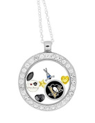Pittsburgh Penguins Floating Charm Locket a 80cm Stainless Steel Chain