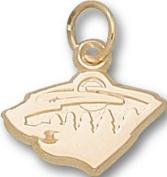 Logoart Minnesota Wild 10K Gold Charm