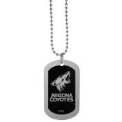 NHL Arizona Coyotes Chrome Tag Necklace, 70cm