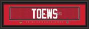 Chicago Blackhawks #19 Toews Signature 8x24 Framed Print