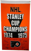 1974-75 Philadelphia Flyers Team Signed Stanley Cup Banner