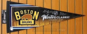 Patrice Bergeron Zdeno Chara Boston Bruins Signed 2016 Winter Classic Pennant