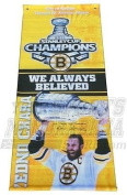 Zdeno Chara Boston Bruins Signed Autographed Stanley Cup Champion Street Banner