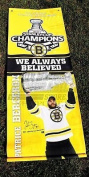 Patrice Bergeron Boston Bruins signed autographed Stanley Cup street banner