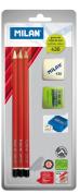 Milan | MILAN | scrap booking | pencil | pencil | pencil | children | craft | tools | art | Spain | Europe stationery | fashion gadgets | Eraser | Pencil Sharpener | Sharpener | HB | drops her Eraser | gifts |