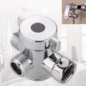 IGEMY 1.3cm Three Way T-adapter Valve For Toilet Bidet Shower Head Diverter Valve