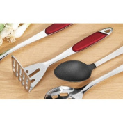 "Esmeyer Potato Masher ""Toledo"" in Bordeaux Red/Silver, Silver/Bordeaux Red"