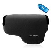 First2savvv QSL-A6000-01G10 black Neoprene Camera Case Bag for SONY A6000 + SD CARD READER