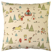 JinStyles Nursery Cotton Canvas Decorative Throw Pillow Cover
