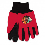 Chicago Blackhawks Adult Two Tone Gloves
