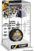 Pittsburgh Penguins 2017 Stanley Cup Champions Logo Deluxe Puck Display Case - Fanatics Authentic Certified