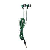 SCASTOE 3.5mm Nylon Braided Wire Headphone Stereo In-Ear Earphone for iPhone, for Samsung -Green