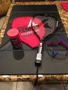 Pro Kennex Blaster 3 5/8 Racquetball, Balls and Goggle