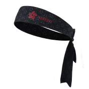 Head Tie Headbands for Men - Moisture Wicking Cleancool Printed Tie Head Sports Headband for Running, Basketball,volleyball, Working Out, Tennis, Athletics