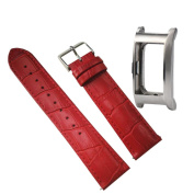 Replacement Strap Band Odeer Luxury Leather Watch Band+Replace Metal Frame Watch Holder For Fitbit Charge 2