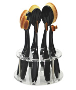 Sunsee 10 Hole Oval Makeup Brush Holder Drying Rack Organiser Cosmetic Shelf Tool