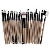 Sunsee 22Pcs/Set Makeup Brush Tools Make-up Toiletry Kit Wool Make Up