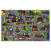 LA Rug Driving Time Green Accent Rug