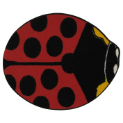 LA Rug Lady Bug Red Accent Rug