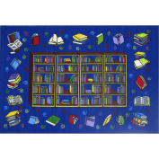 LA Rug Reading Time Blue Accent Rug