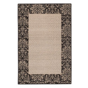 Brumlow Mills Inc Chocolate Damask-weave Accent Rug