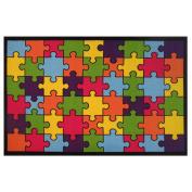 LA Rug Jigsaw Puzzle Blue Accent Rug