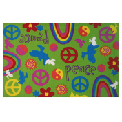 LA Rug Peace and Harmony Green Accent Rug