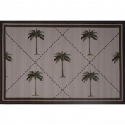 LA Rug Palm Fronds Brown Accent Rug