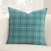 SIScovers Trellis Plaid Polyester Accent Pillow 20 x 20